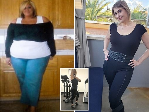 Woman who would eat cakes everyday loses 182lbs in 18 months thanks to self discipline and exercise