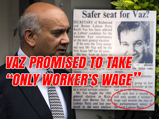 """Vaz Promised to """"Only Accept a Worker's Wage"""""""