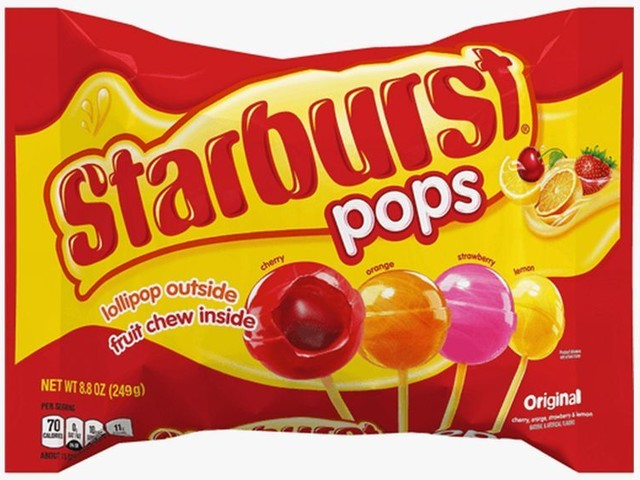 Candy-Filled Lollipops - The New Starburst Pops Have a Lollipop Outside and Chewy Fruit Center (TrendHunter.com)