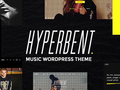 Hyperbent - A Modern Music WordPress Theme (Music and Bands)