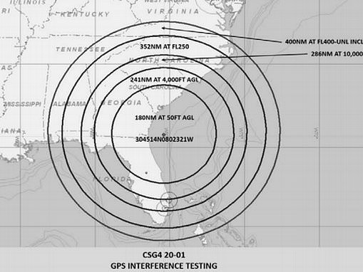 US military training could jam GPS systems for planes flying southeast and over the Caribbean