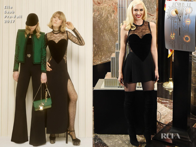 Gwen Stefani In Elie Saab & Celia Kritharioti Couture – Lights The Empire State Building & The Today Show