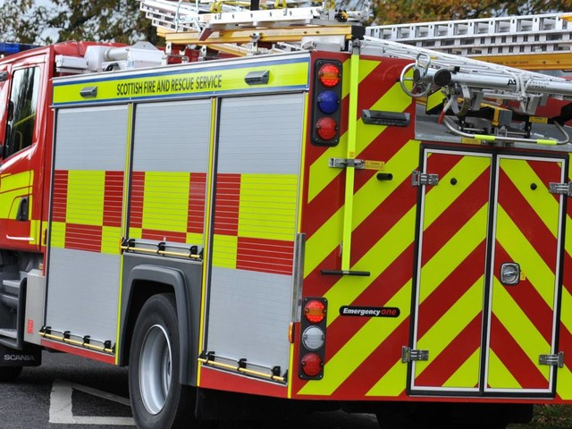 Emergency services were called to tackle a blaze in the north-east