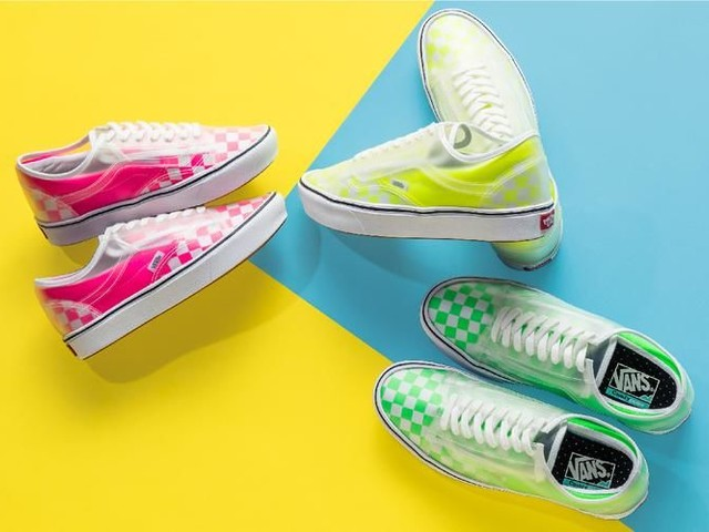 Neon See-Through Sneakers - The Vans ComfyCush Slip-Skool Sneakers Come in Three Color Options (TrendHunter.com)
