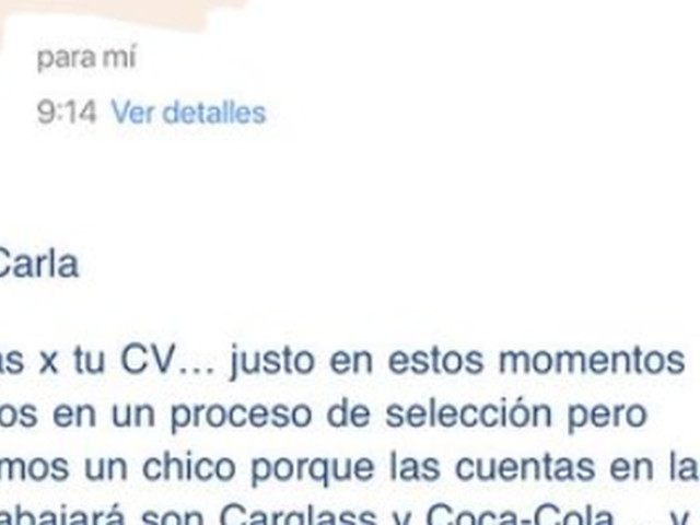 Woman gets email rejecting her for a job because she's not a man