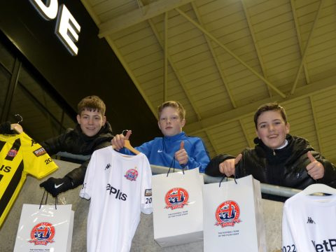 'NE14 A Free Shirt?' – AFC Fylde Offer Complimentary Goodie Bags To Three Young Fans Who Pranked Stadium Announcer (Photos)