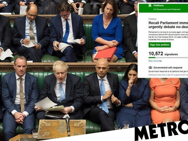 Petition to recall parliament 'immediately' over no-deal Brexit fears