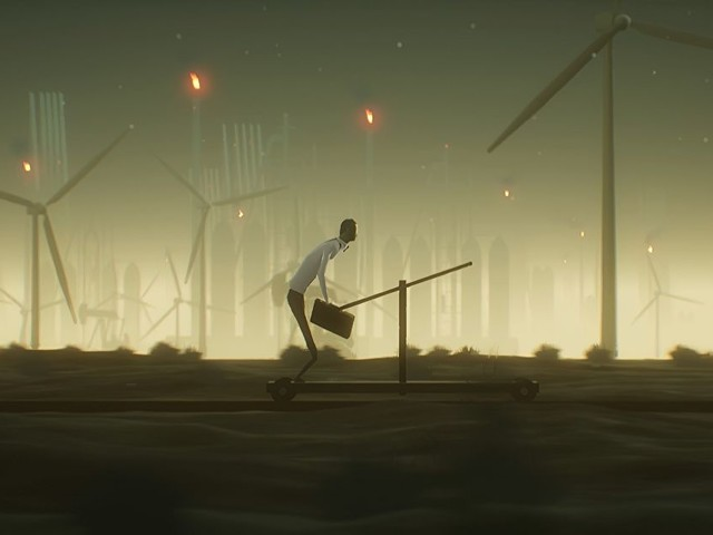 Commuting home from work turns mighty spooky in this indie game