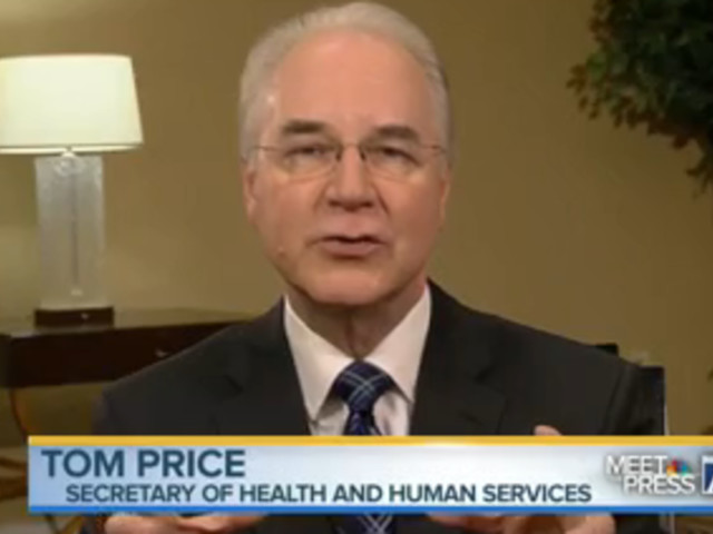 HHS Secretary Tom Price Says 'Nobody Will Be Worse Off Financially' Under Obamacare Repeal