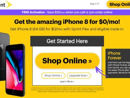 Sprint Offers Some Customers Free iPhone 8 Deal