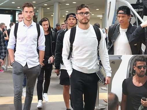 Ozil, Sane and Germany stars arrive in Italy for training camp ahead of World Cup