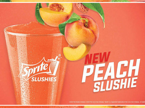 Summery Soda Slush Drinks - The Krystal Peach Sprite Slushie is Available at Participating Locations (TrendHunter.com)