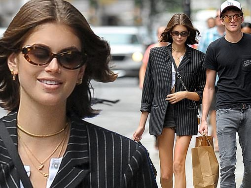 Cindy Crawford's daughter Kaia, 17, and son Presley, 19, look like best friends as they go shopping