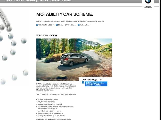 New Motability Cars
