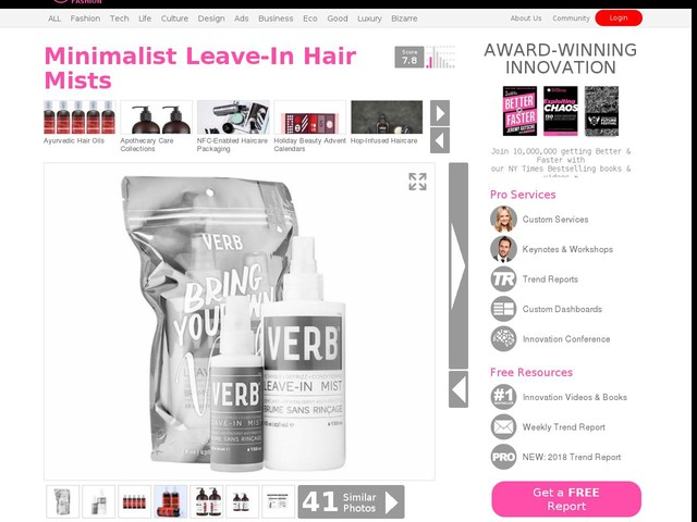 Minimalist Leave-In Hair Mists - This Kit from Verb Haircare Helps to Tame Unruly Locks (TrendHunter.com)