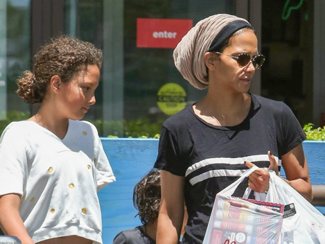 Halle Berry, 52: Rare Sighting Out With Her Adorable Kids Nahla, 11, & Maceo, 5, On Shopping Trip