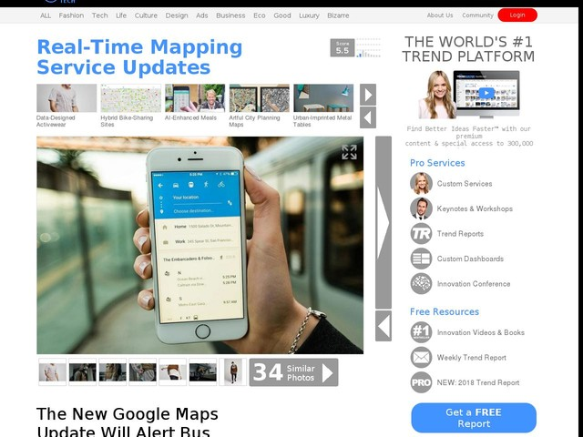 Real-Time Mapping Service Updates - The New Google Maps Update Will Alert Bus Riders of Their Stop (TrendHunter.com)