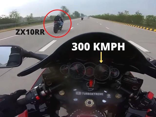 Watch This Suzuki Hayabusa Do 300 Kmph On Indian Roads – Video