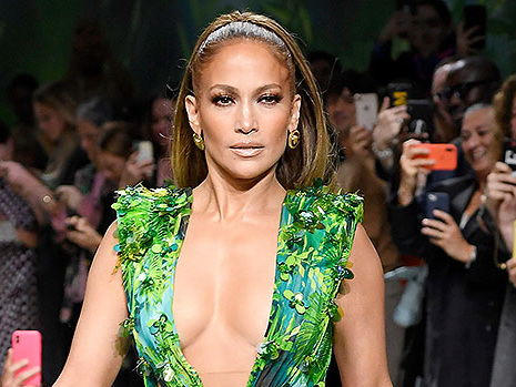 Jennifer Lopez Reveals She's The New Face Of Versace & Wears Iconic Grammy Dress To Celebrate