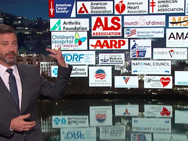 Kimmel, Atop Scorched Earth, Takes Aim At Trump Over Health Care Bill