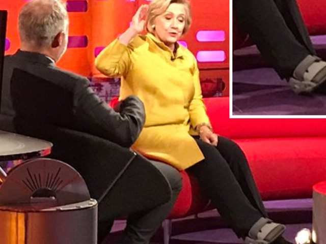 Hillary Clinton Pictured In Foot Brace As She Misses Interviews After Fall