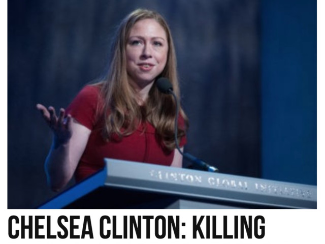Dems 2018: Chelsea Clinton: Half of abortions are black babies - this leads to economic growth!