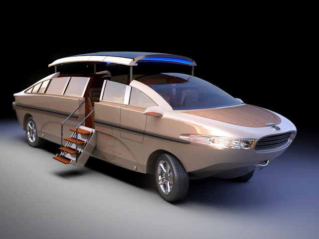 This Billionaire's Water Toy Is an Amphibious Limo That Costs More Than Luxury Cars
