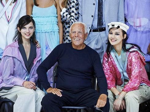Armani lightens up London Fashion Week