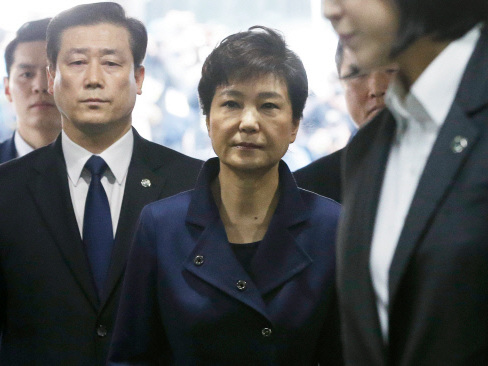 S. Korea's ousted president Park appears in court