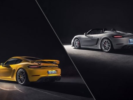 Porsche Brings Back 6-cyl Power to 718 Spyder and Cayman GT4