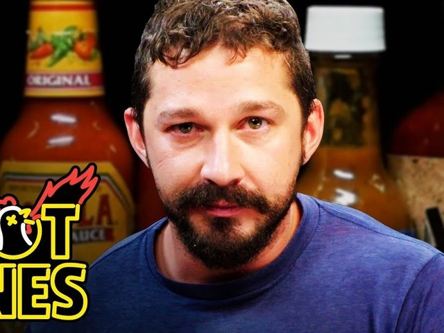Shia LaBeouf almost definitely regretted turning up the heat on 'Hot Ones'