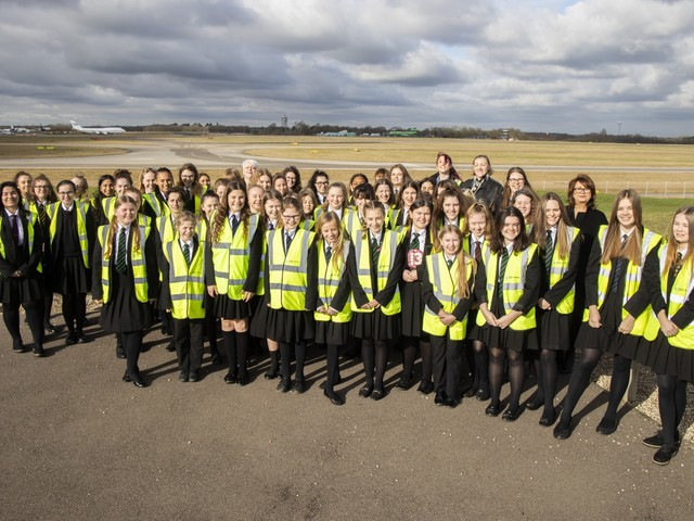 London Stansted Airport marks 'Women and Girls in Science' day with networking event for local schoolchildren