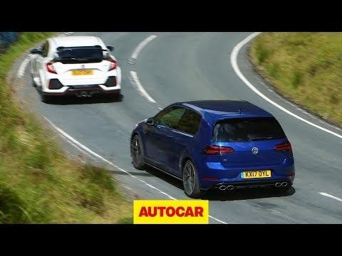 Video: Honda Civic Type R vs VW Golf R - hot hatch battle