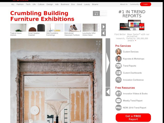 Crumbling Building Furniture Exhibitions - Ariake Unvieled a New Line During Stockholm Design Week (TrendHunter.com)