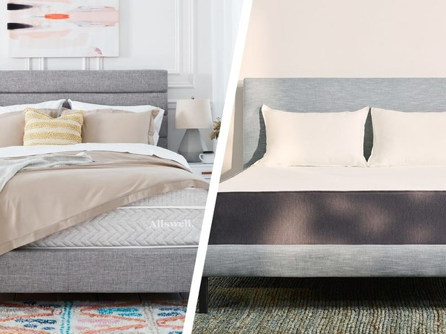 We slept on hybrid mattresses from Casper and Allswell, and found Allswell's to be better for couples