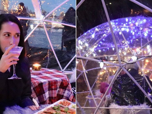 I dined inside an igloo overlooking Manhattan and found that the winter rooftop trend is worth the hype