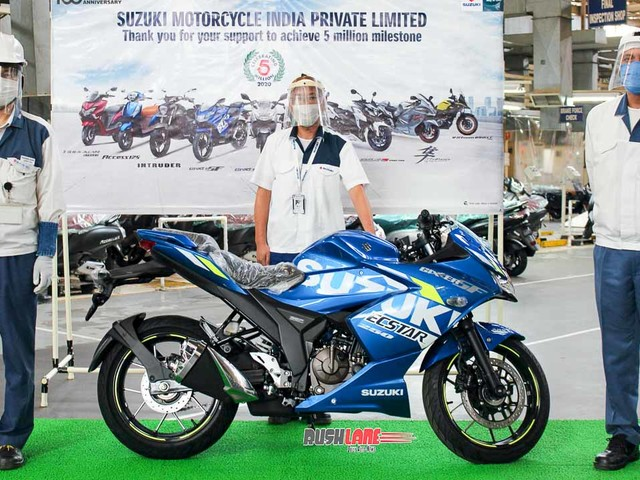 Suzuki Gixxer 250 SF becomes vehicle no 50 lakh to roll out of Gurugram plant
