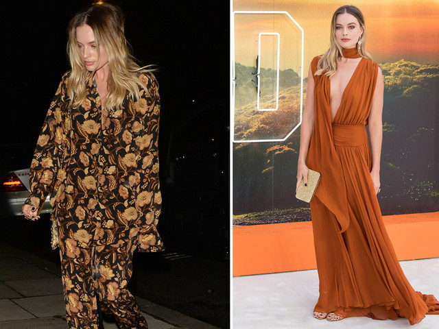 Margot Robbie looks ready for bed as she leaves Once Upon A Time In Hollywood party in pyjamas