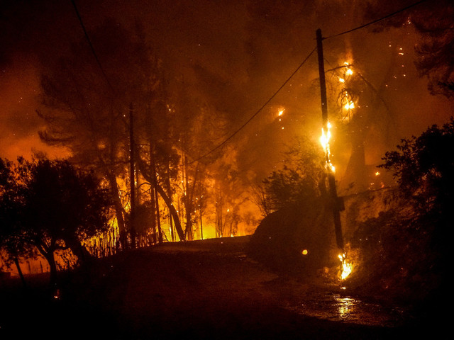 Wildfires close to site of Ancient Olympic Games force evacuation of villagers