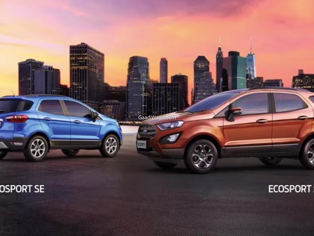 Ford EcoSport April 2021 Price Hike – New Vs Old Price List