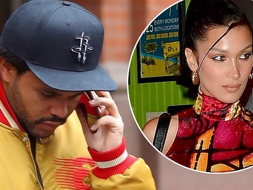 The Weeknd keeps a low profile in gold as Bella Hadid celebrates 23rd birthday... after taking break