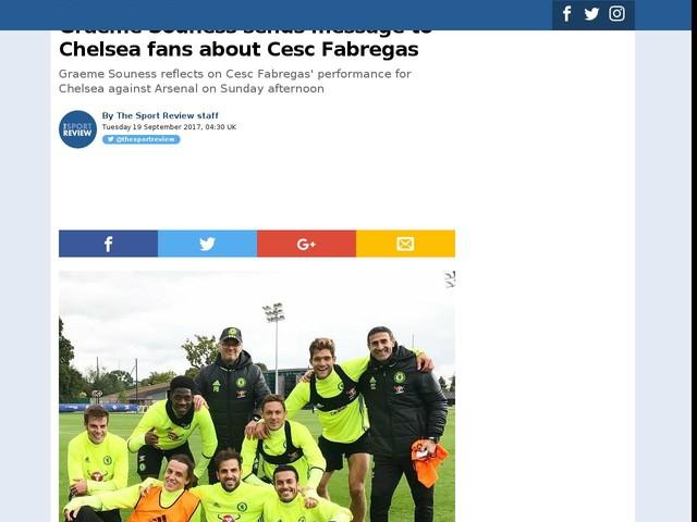 Graeme Souness sends message to Chelsea fans about Cesc Fabregas