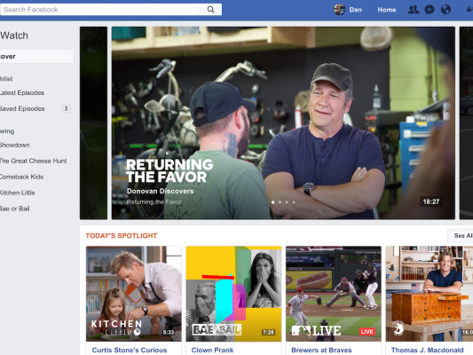 Facebook launches original video content in redesigned Watch tab