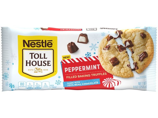 Peppermint-Filled Baking Chips - Nestlé Toll House Now Offers Peppermint Filled Baking Truffles (TrendHunter.com)
