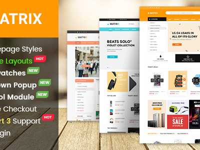 Matrix - Highly Customizable & Multipurpose eCommerce OpenCart 3 Theme With Mobile-Specific Layouts (OpenCart)
