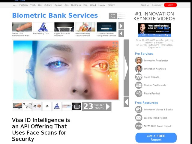 Biometric Bank Services - Visa ID Intelligence is an API Offering That Uses Face Scans for Security (TrendHunter.com)