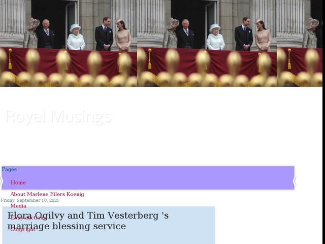 Flora Ogilvy and Tim Vesterberg 's marriage blessing service