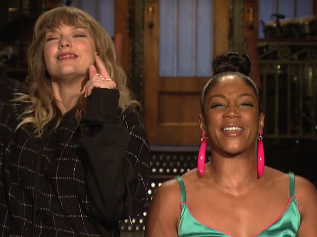 Taylor Swift & Tiffany Haddish Do a Happy Dance in 'SNL' Promo (Video)