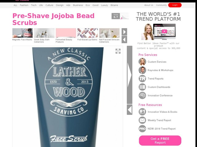 Pre-Shave Jojoba Bead Scrubs - The Lather & Wood Shaving Co. Face Scrub Preps Skin for the Day (TrendHunter.com)