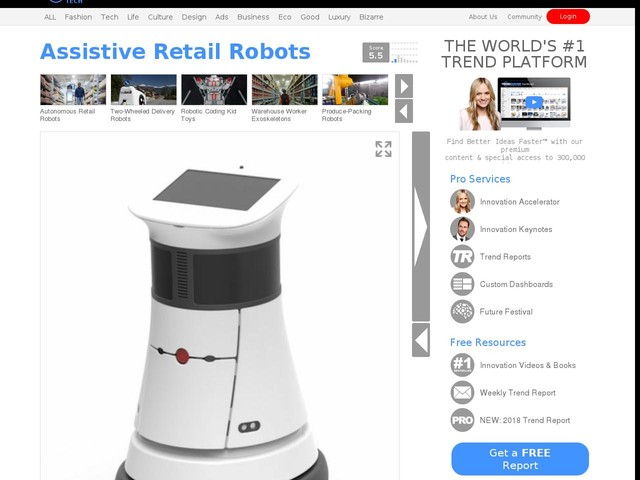 Assistive Retail Robots - Japan's Parco Department Store Uses Siriusbot for Various Tasks (TrendHunter.com)